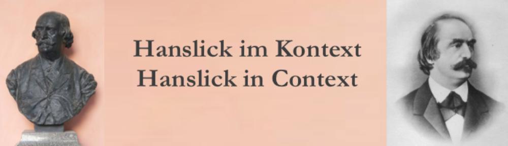 Hanslick im Kontext